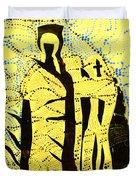 Shroud Of Jesus Duvet Cover