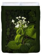 Shrub With White Blossoms Duvet Cover