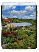 Shrubbery At A Greenhouse Duvet Cover