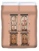Four Wooden Shutters Duvet Cover