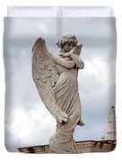 Shy Angel Duvet Cover