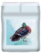 Shy Is A Wood Duck Duvet Cover