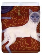 Siamese Cat Runner Duvet Cover