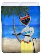 Siamese Queen Of Hawaii Duvet Cover