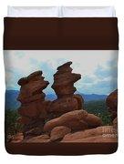 Siamese Twins Garden Of The Gods Colorado Duvet Cover