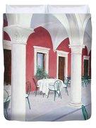 Sibenik Cafe Croatia Duvet Cover