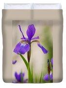 Siberian Iris Blossom Duvet Cover