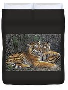 Siberian Tiger Cubs Endangered Species Wildlife Rescue Duvet Cover