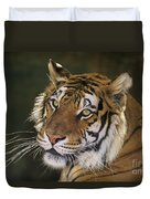 Siberian Tiger Portrait Endangered Species Wildlife Rescue Duvet Cover