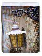 Sicilian Village Lamp Duvet Cover by David Smith