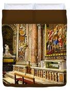 Side Altar In St Peters Basicilca Duvet Cover