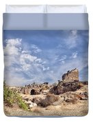 Side Ancient Archaeological Remains Duvet Cover