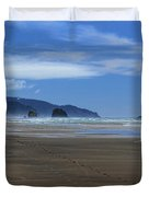 Side By Side Along The Beach Duvet Cover