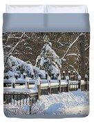 Side Cut Park Winter Wonderland Duvet Cover