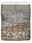 Side Nymphaeum Fountain Ruins Duvet Cover