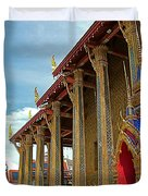 Side Of Royal Temple At Grand Palace Of Thailand In Bangkok Duvet Cover