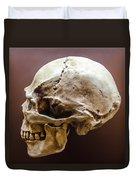 Side Profile View Of Human Skull   Duvet Cover