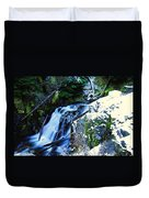 Side View Of Bumping Creek Falls Duvet Cover