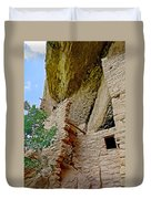 Side Window In Spruce Tree House On Chapin Mesa In Mesa Verde National Park-colorado  Duvet Cover