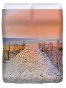 Sideside Heights Sunset Duvet Cover