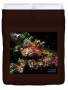 Sidewalk Flower Shop Duvet Cover