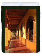 Sidewalk In Tlaquepaque District Of Guadalajara Duvet Cover by Elena Elisseeva