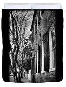 Sidewalk Scene-charleston Duvet Cover