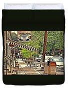 Sidewalk Stop Duvet Cover