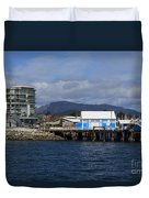 Sidney Harbour On Vancouver Island Duvet Cover