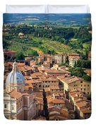 Siena From Above Duvet Cover