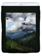 Sierra Nevada Lighting Strike Duvet Cover