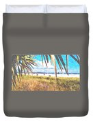 Siesta Key In Fall Duvet Cover