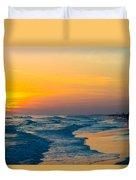 Siesta Key Sunset Walk Duvet Cover