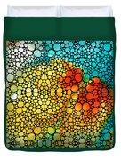 Siesta Sunrise - Stone Rock'd Art Painting Duvet Cover