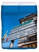 Sign For The Route Des Vins, Arbois Duvet Cover