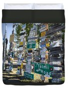 Sign Forest Watson Lake Duvet Cover