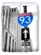 Interstate 93 Duvet Cover