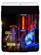Signs Of Music Row Nashville Duvet Cover