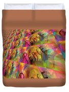 Signs Of Peace X Duvet Cover