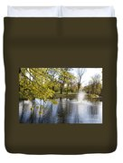 Sigulda Pond Duvet Cover
