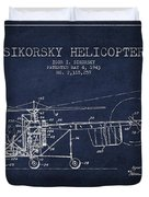 Sikorsky Helicopter Patent Drawing From 1943 Duvet Cover