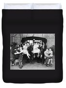 Silent Film Still: Parties Duvet Cover