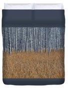 Silent Sentinels Of Autumn Grasses Duvet Cover