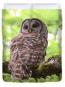 Silent Watcher Of The Woods Duvet Cover