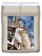 Silent Winter Angel Duvet Cover