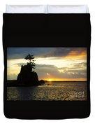 Siletz Bay Sunset Oregon 1 Duvet Cover