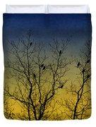 Silhouette Birds Sequel Duvet Cover