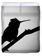 Silhouette Humming Bird Duvet Cover