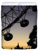 Silhouette Of London Eye Duvet Cover
