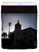 Silhouette Of Mission Santa Clara Duvet Cover
